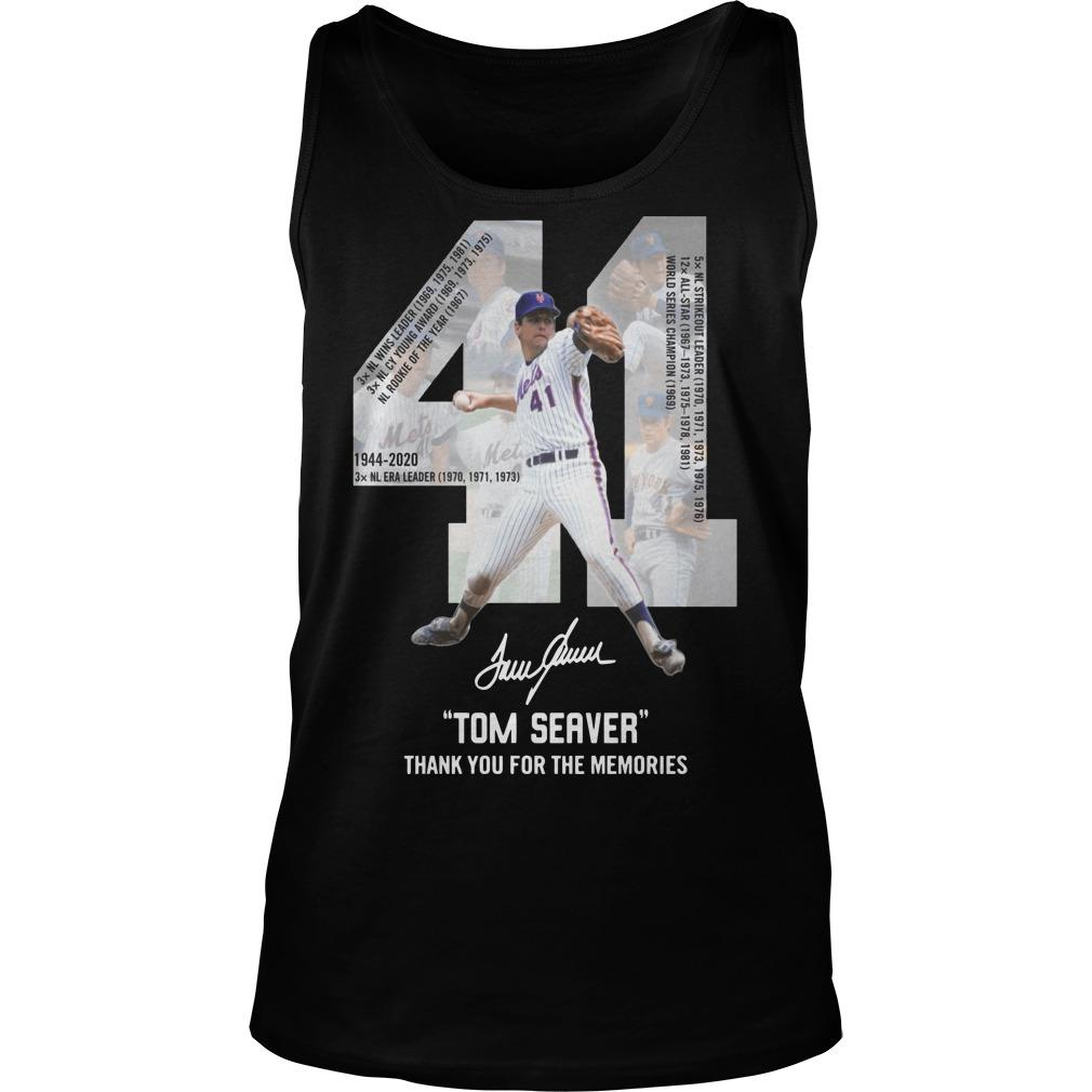 41 Tom Seaver Signature Thank You For The Memories Tank Top
