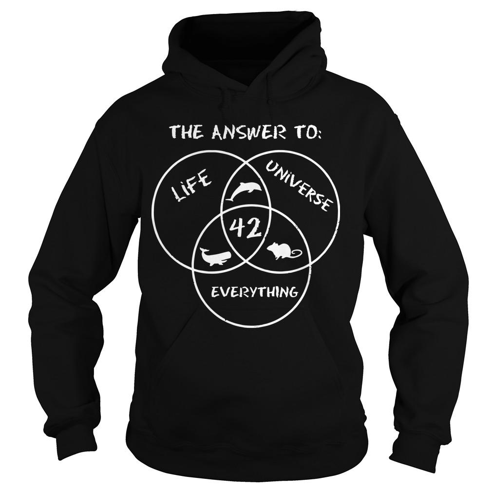 42 The Answer To Life Universe Everything Hoodie