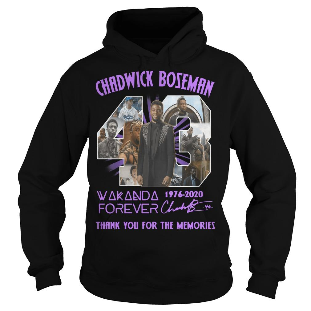 43 Chadwick Boseman Wakanda Forever Thank You For The Memories Hoodie