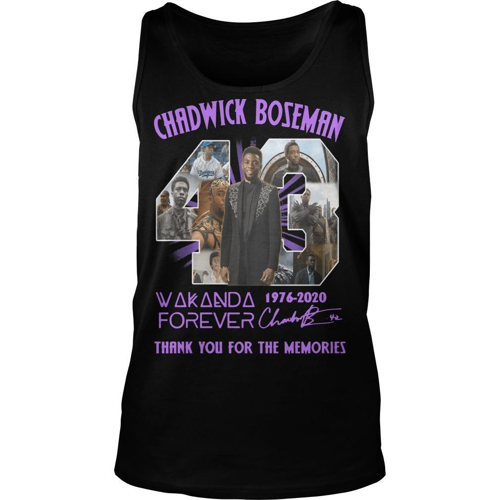 43 Chadwick Boseman Wakanda Forever Thank You For The Memories Tank Top