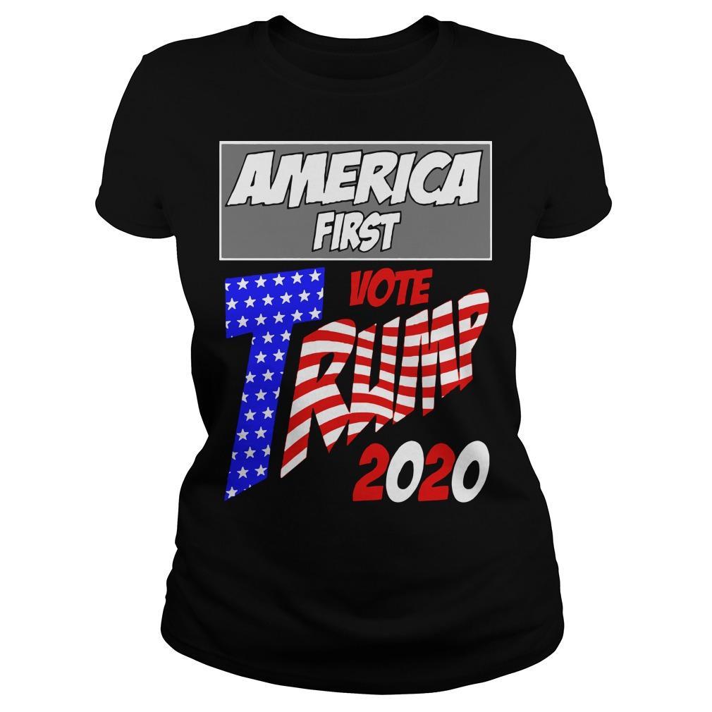America First Vote Trump 2020 Longsleeve