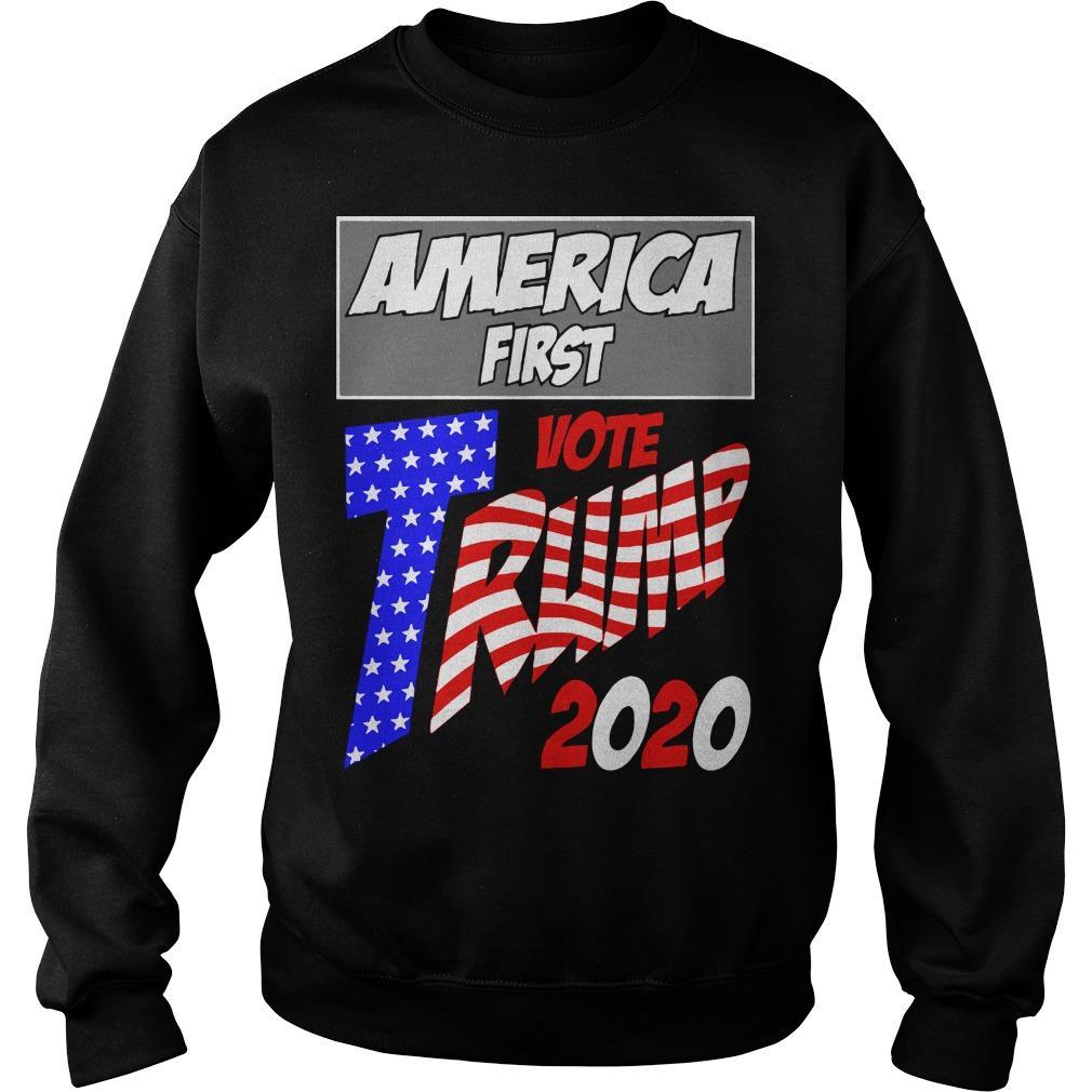 America First Vote Trump 2020 Sweater