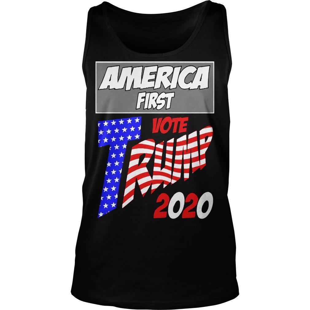 America First Vote Trump 2020 Tank Top
