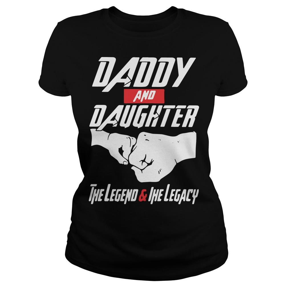Avenger daddy And daughter the Legend And The Legacy shirt Longsleeve
