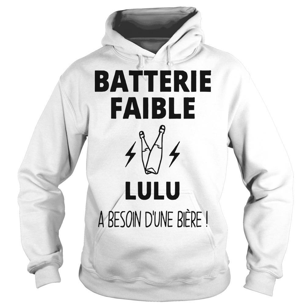 Batterie Faible Lulu A Besoin D'une Bière Hoodie
