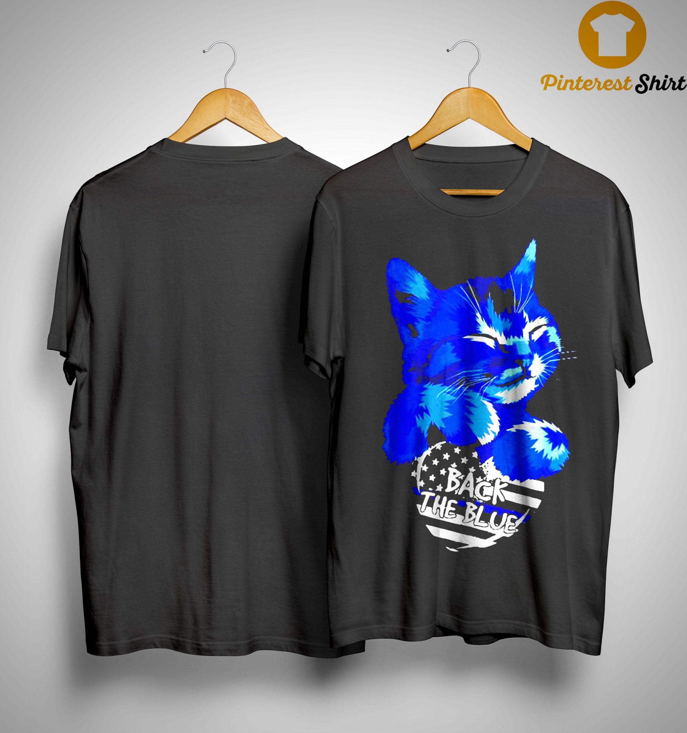 Cat Back The Blue Shirt