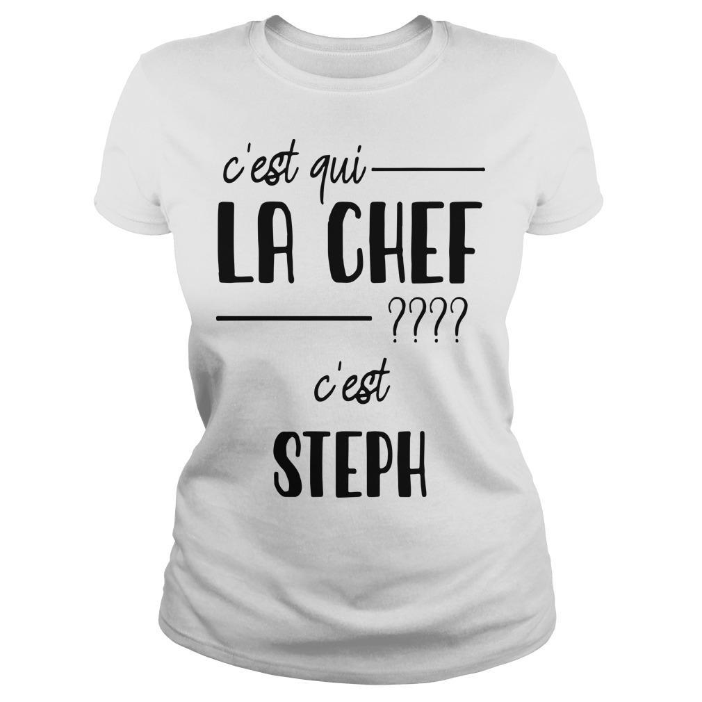 C'est Qui La Chef C'est Steph Longsleeve