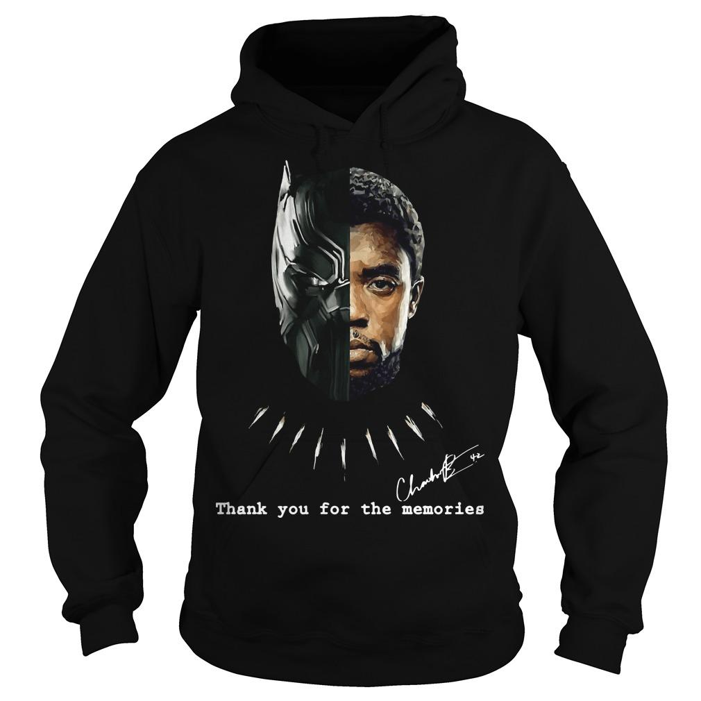Chadwick Boseman Black Panther Thank You For The Memories Hoodie