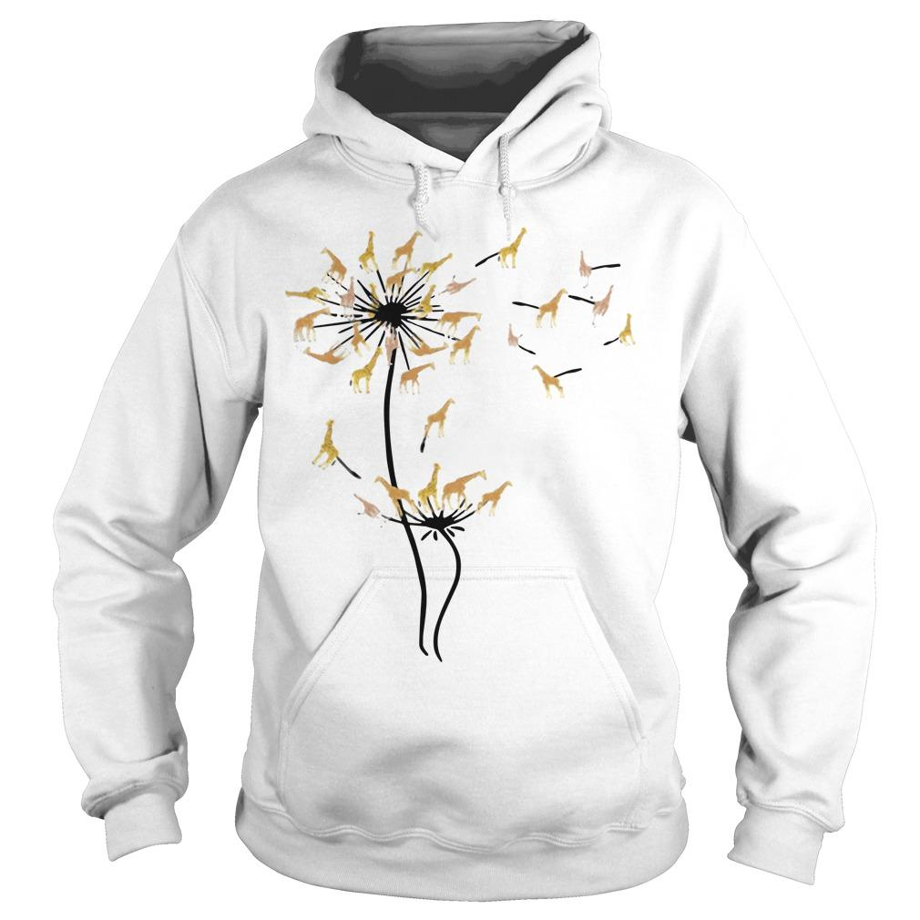 Dandelion Flower Giraffe Hoodie