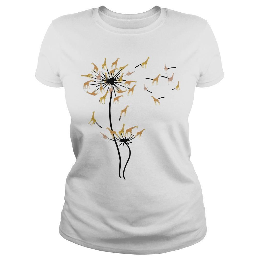 Dandelion Flower Giraffe Longsleeve