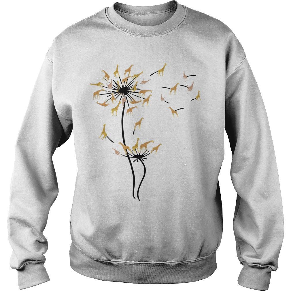 Dandelion Flower Giraffe Sweater