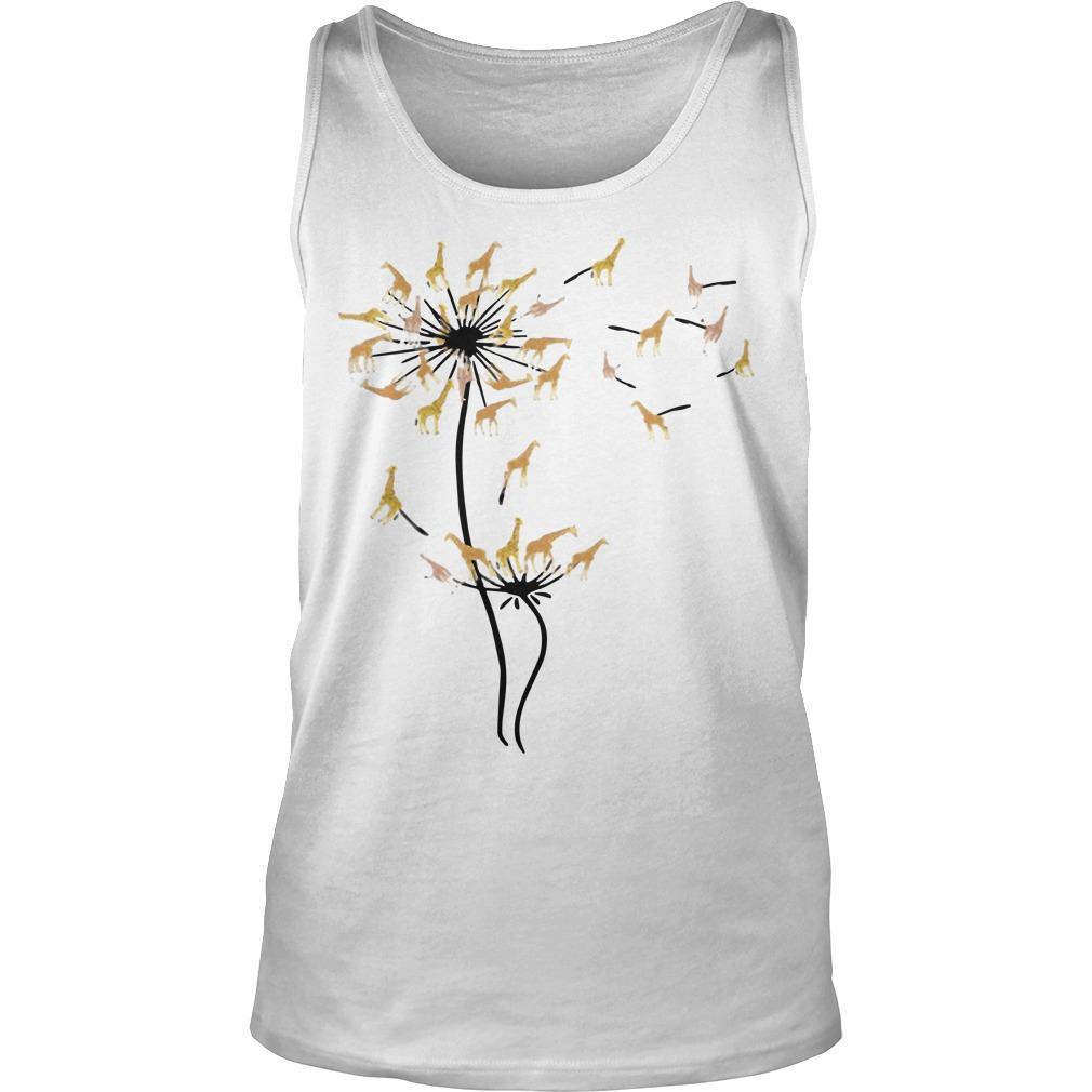 Dandelion Flower Giraffe Tank Top