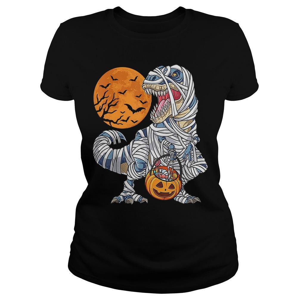 Halloween Dinosaur T Rex Mummy Pumpkin Longsleeve