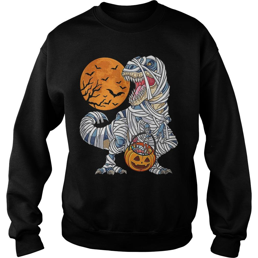 Halloween Dinosaur T Rex Mummy Pumpkin Sweater