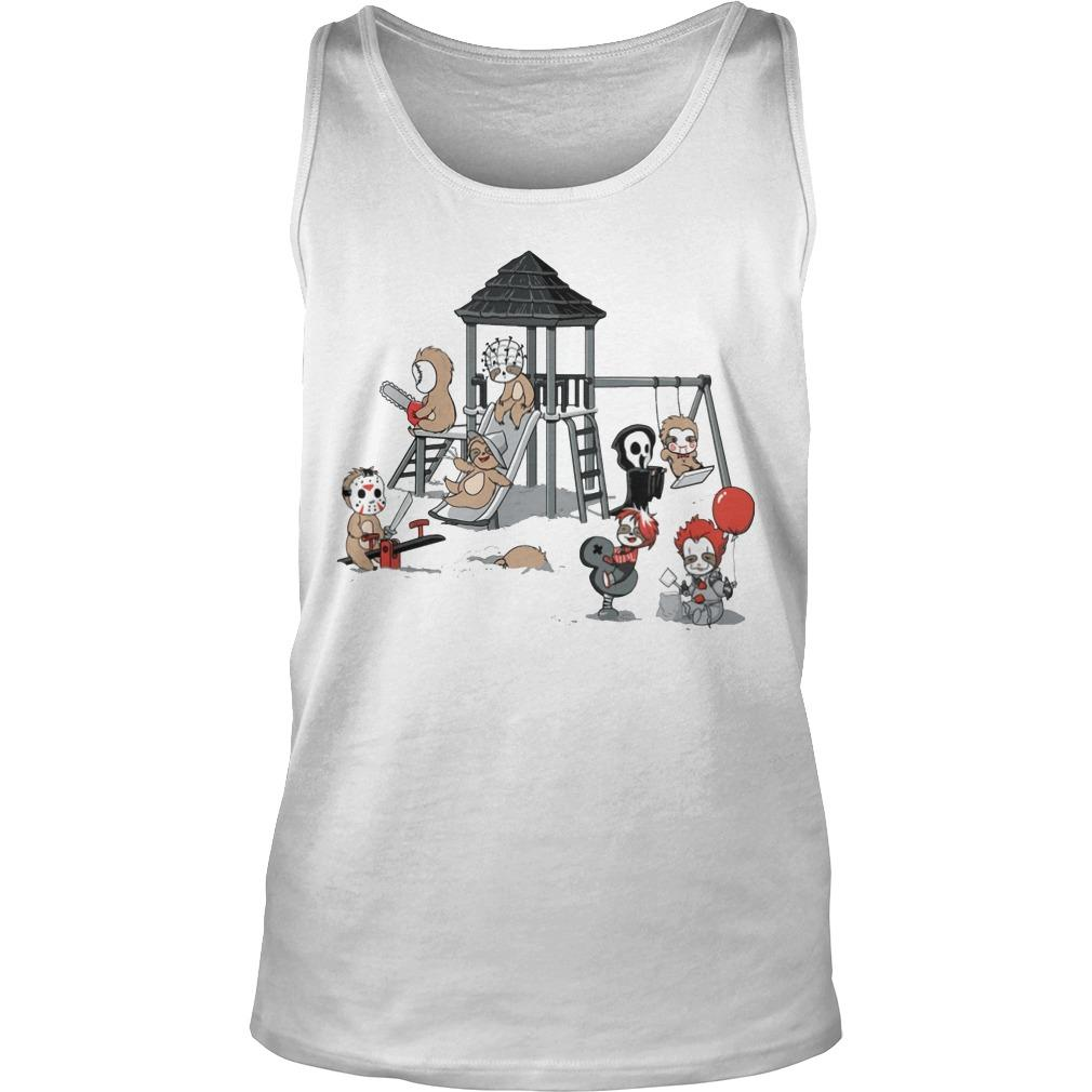 Halloween Horror Character Playing Area Tank Top