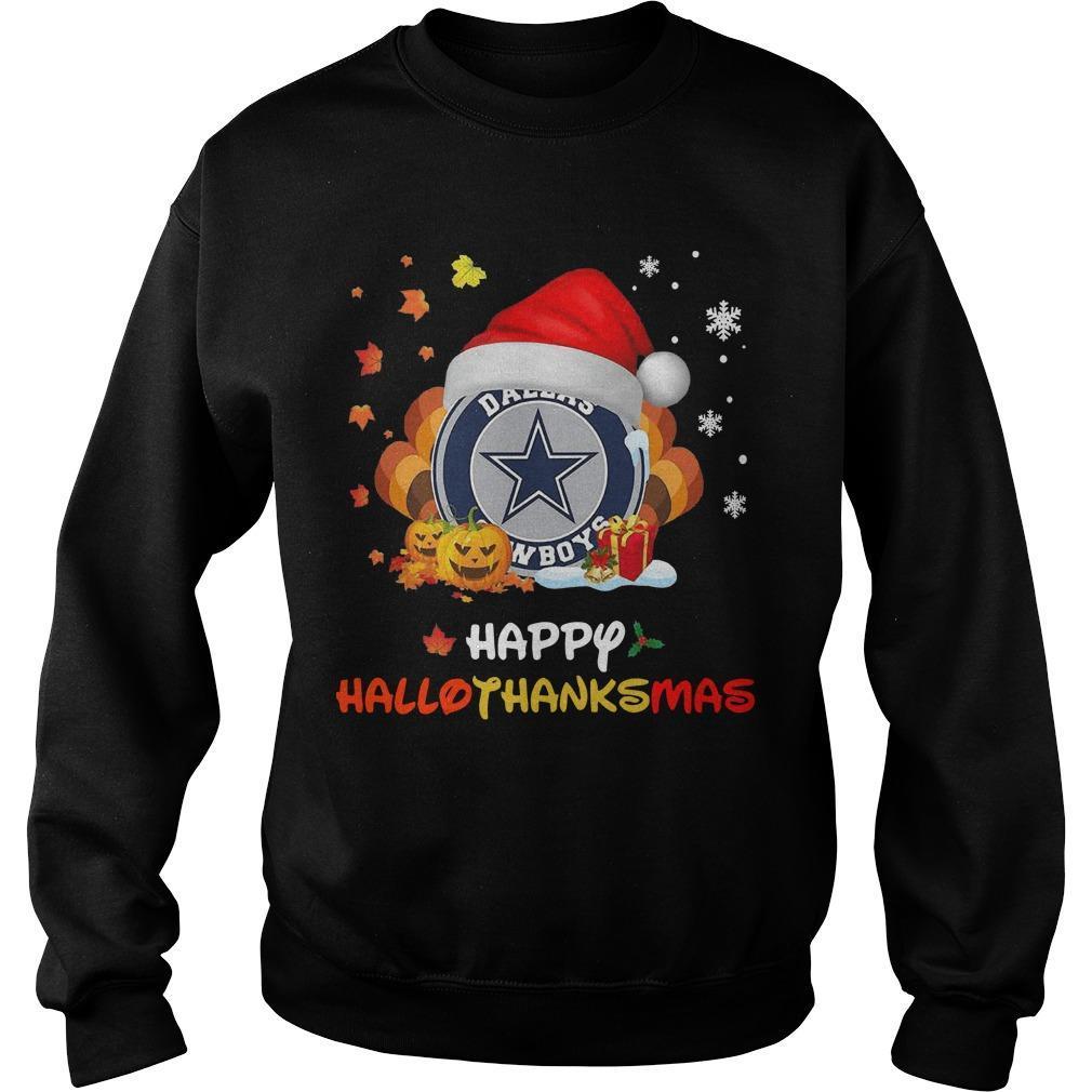 Happy Hallothanksmas Dallas Cowboys Sweater