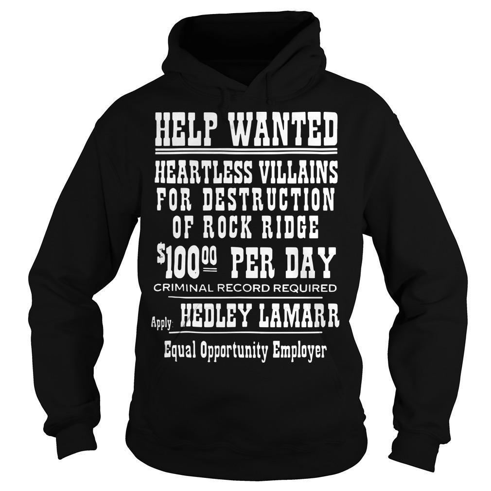 Help Wanted Heartless Villains For Destruction Hoodie