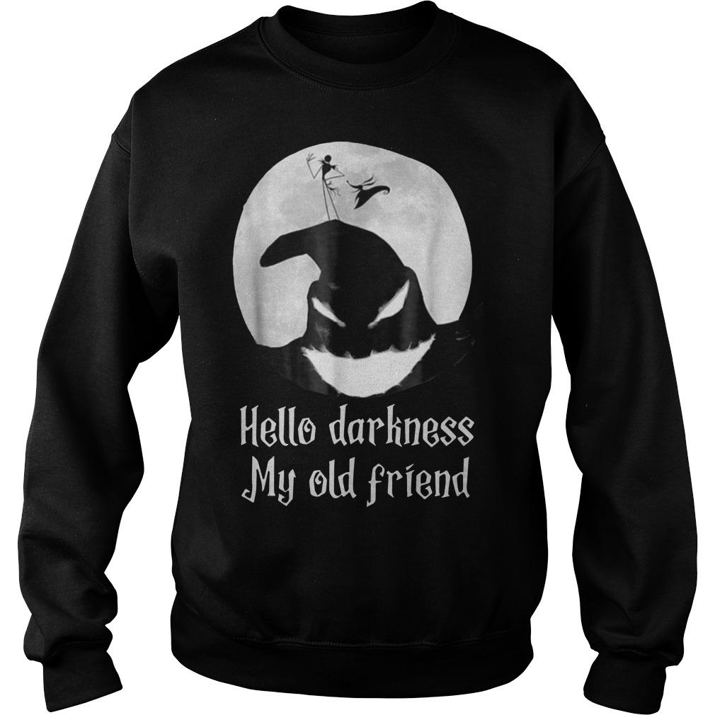 Jack Skellington Hello Darkness My Old Friend Sweater