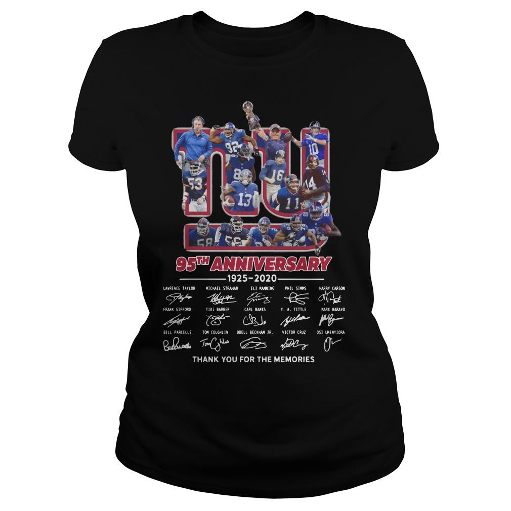 New York Giants 95th Anniversary Thank You For The Memories Longsleeve