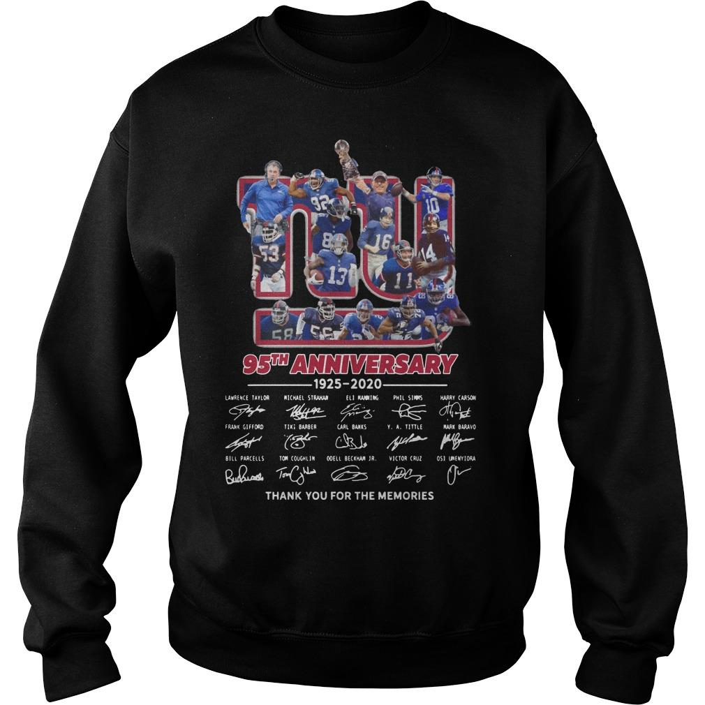 New York Giants 95th Anniversary Thank You For The Memories Sweater