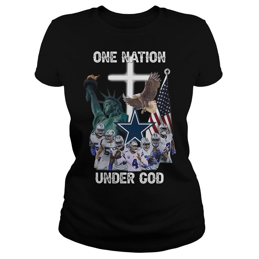 One Nation Under God Dallas Cowboys Longsleeve