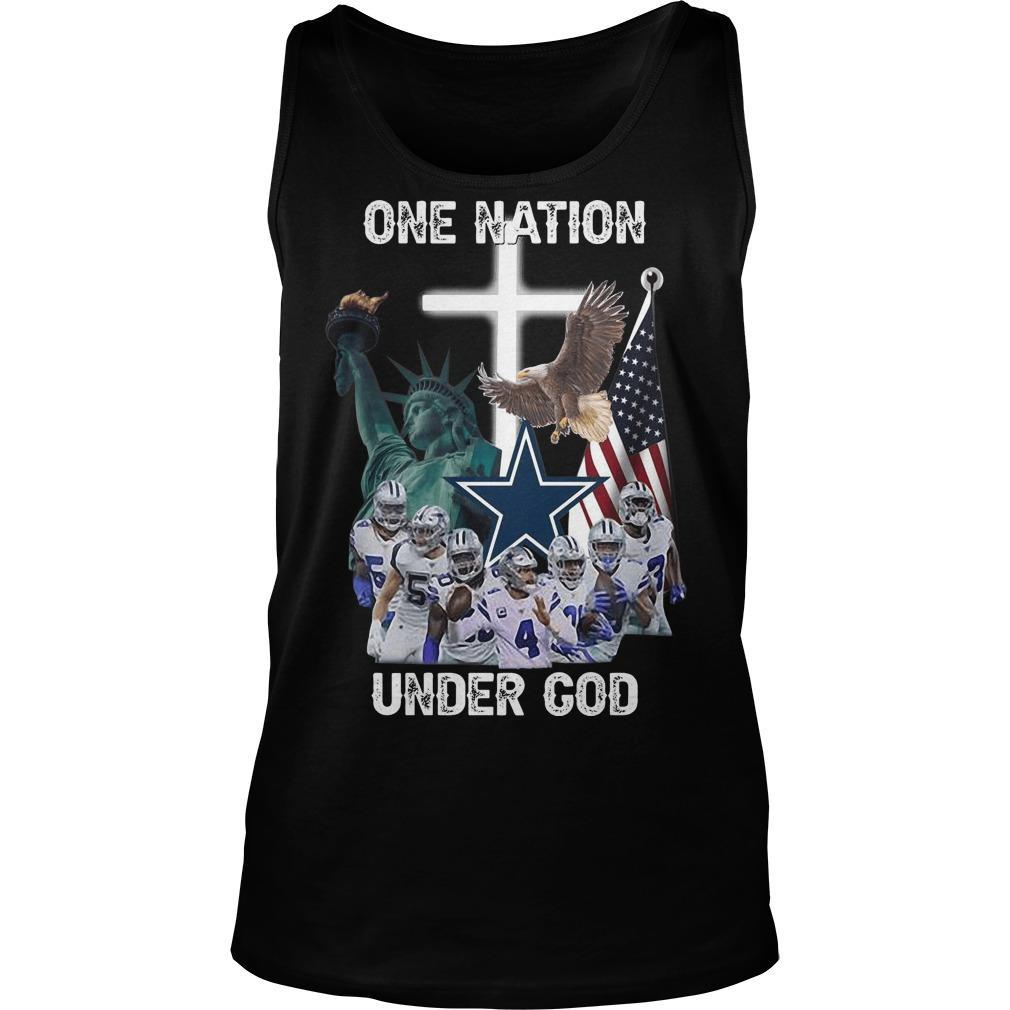 One Nation Under God Dallas Cowboys Tank Top