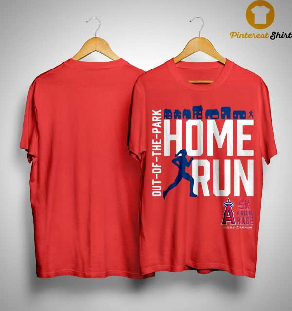 Out Of The Park Home Run 5k Virtual Race Shirt