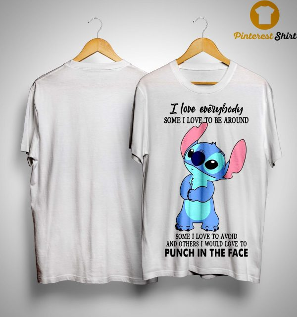 Stitch Punch In The Face Love Everybody Shirt