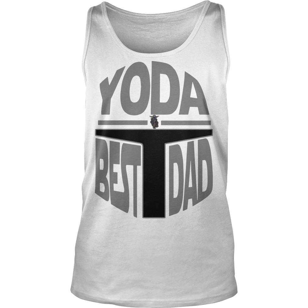 The Mandalorian Yoda Best Dad Tank Top