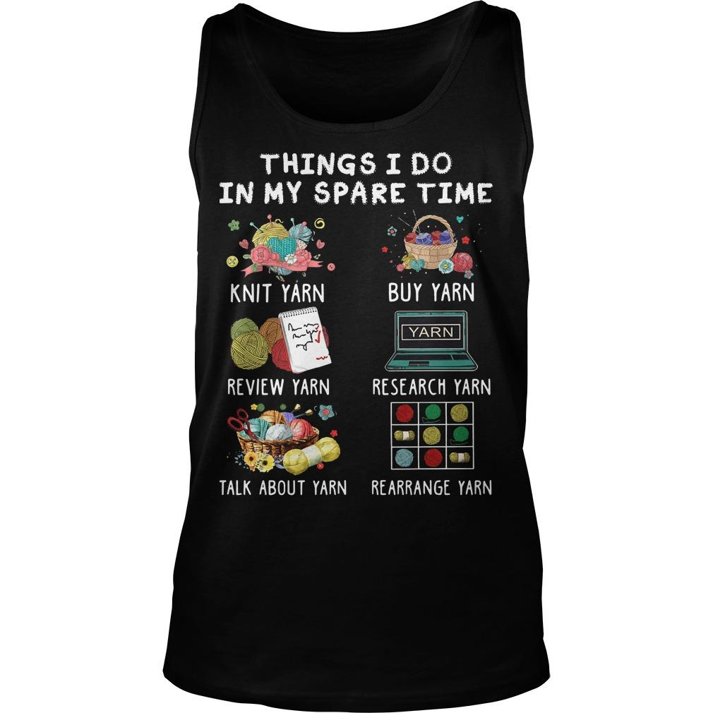 Things I Do In My Spare Time Knit Yarn Review Yarn Tank Top