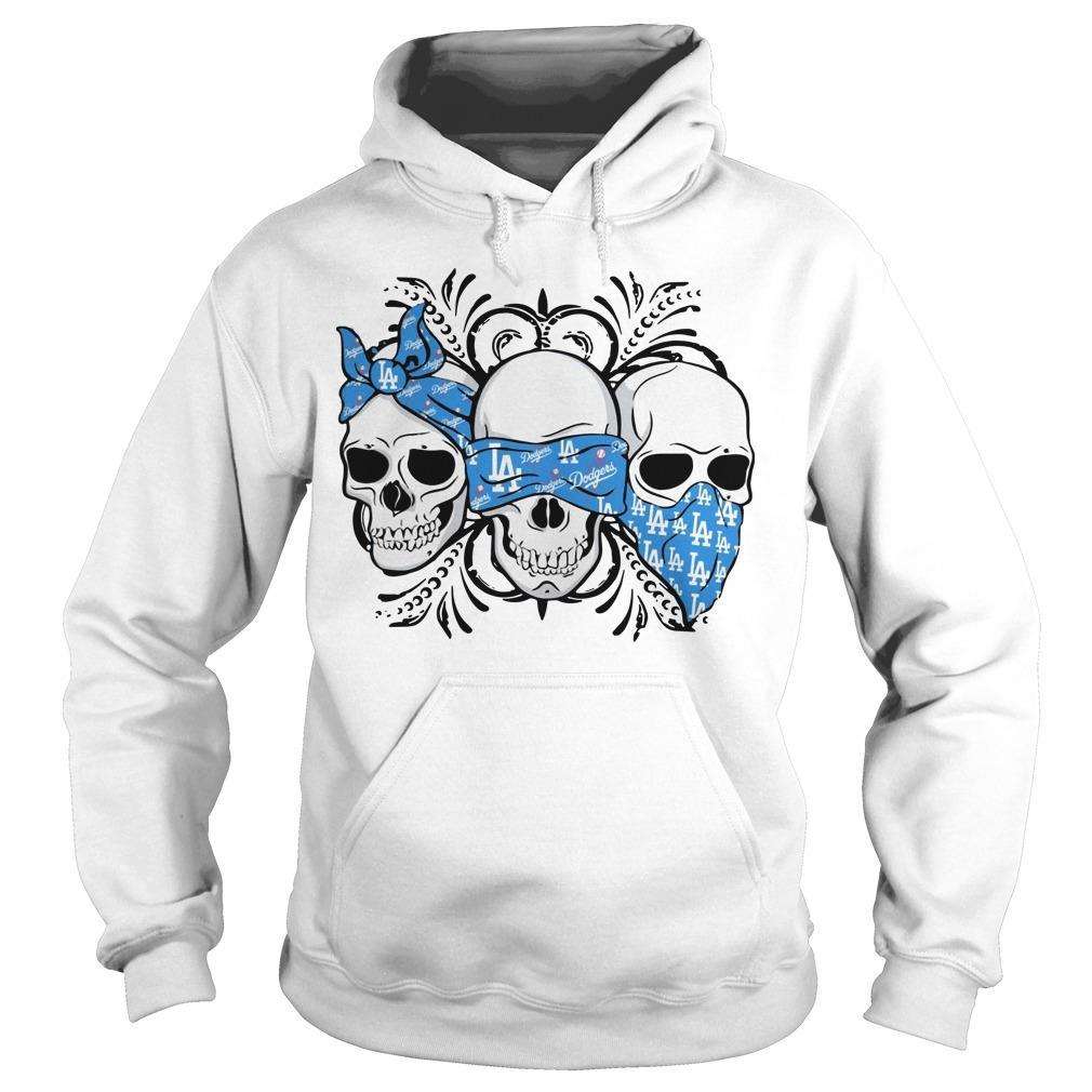 Three Skull Los Angeles Dodgers Hoodie
