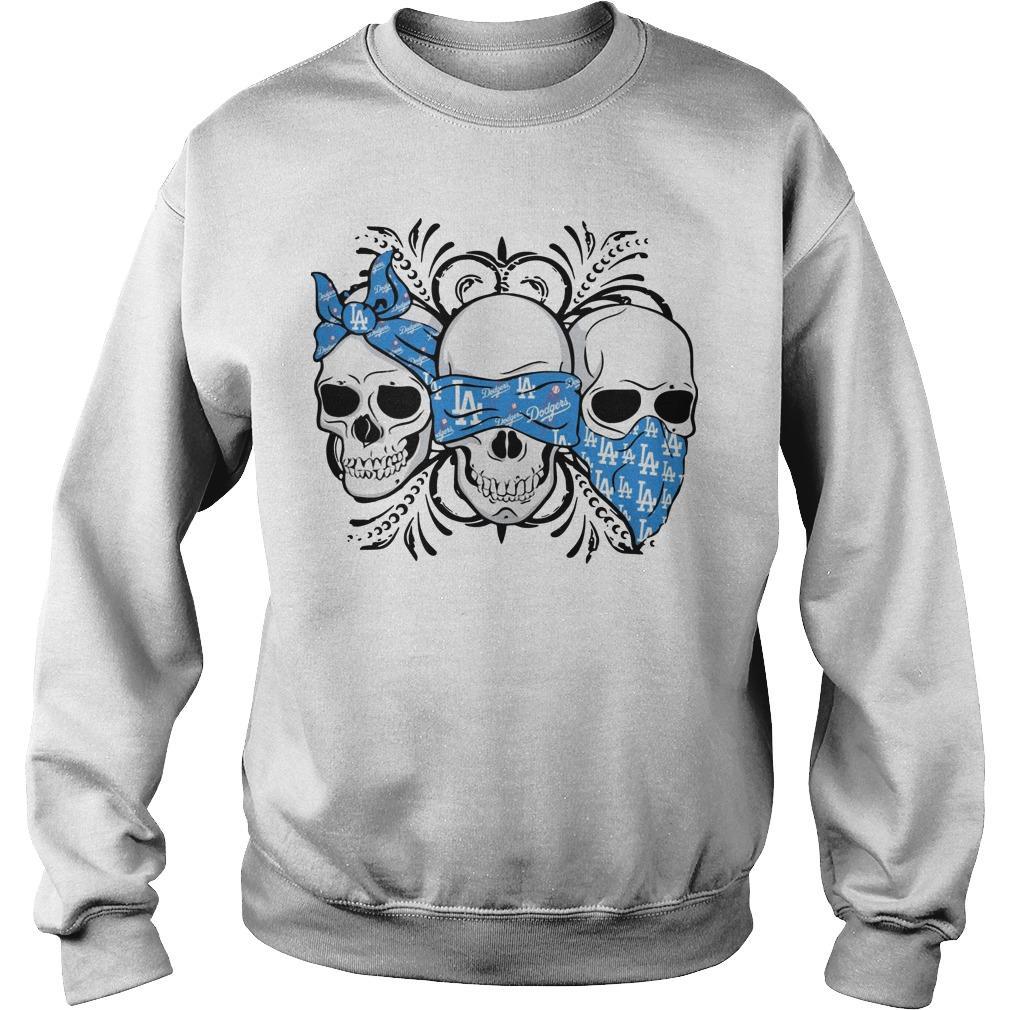 Three Skull Los Angeles Dodgers Sweater
