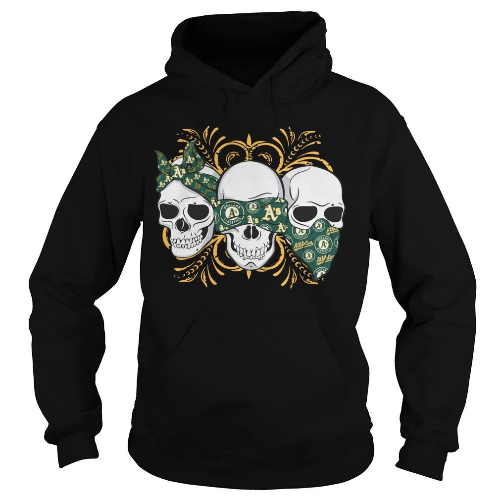 Three Skull Oakland Athletics Hoodie