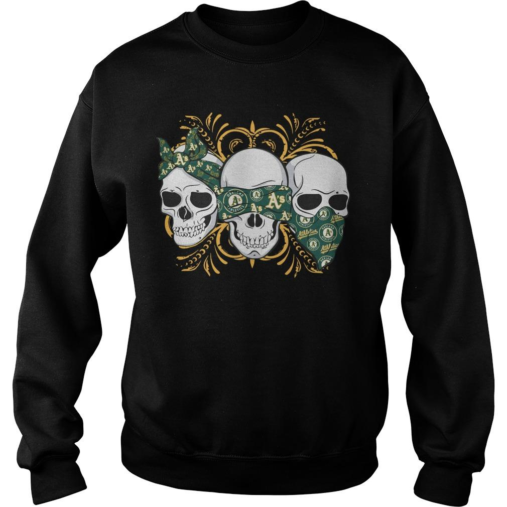 Three Skull Oakland Athletics Sweater