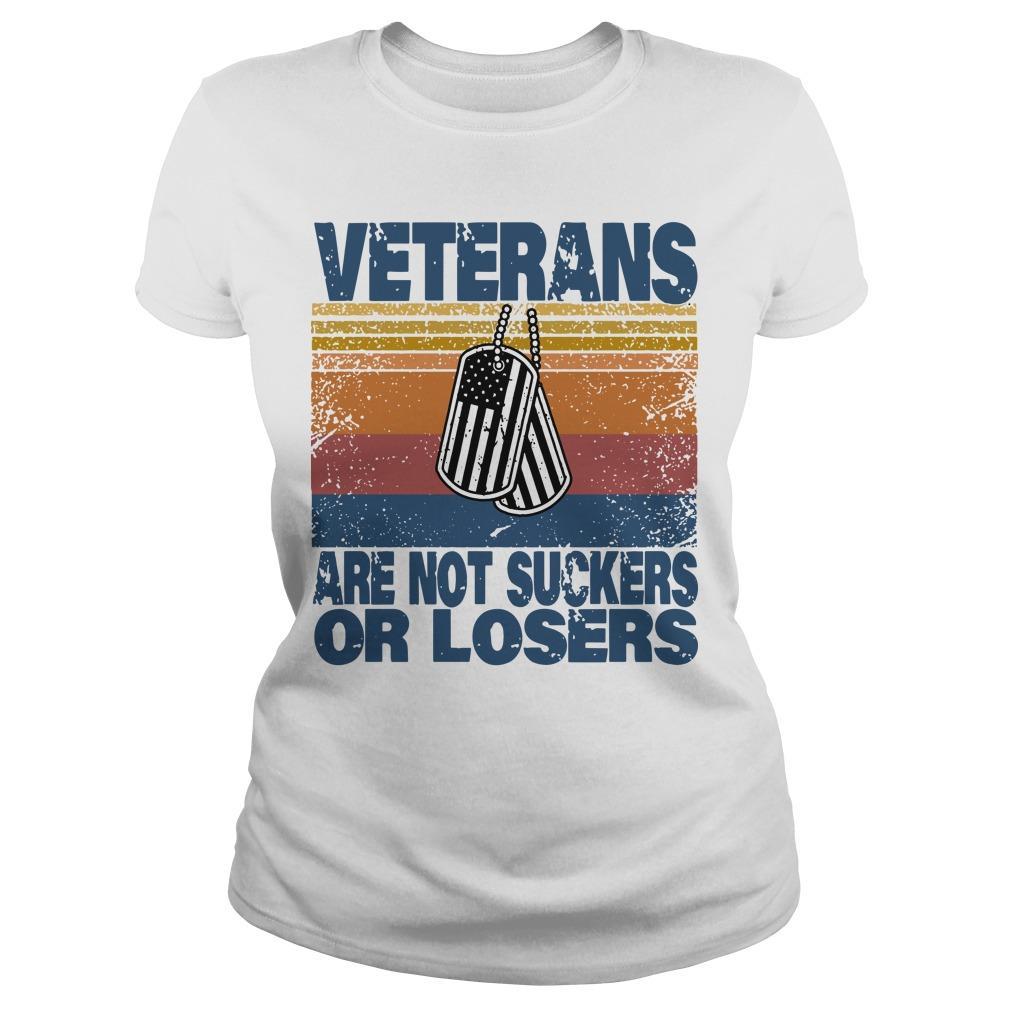 Vintage Veterans Are Not Suckers Or Losers Longsleeve