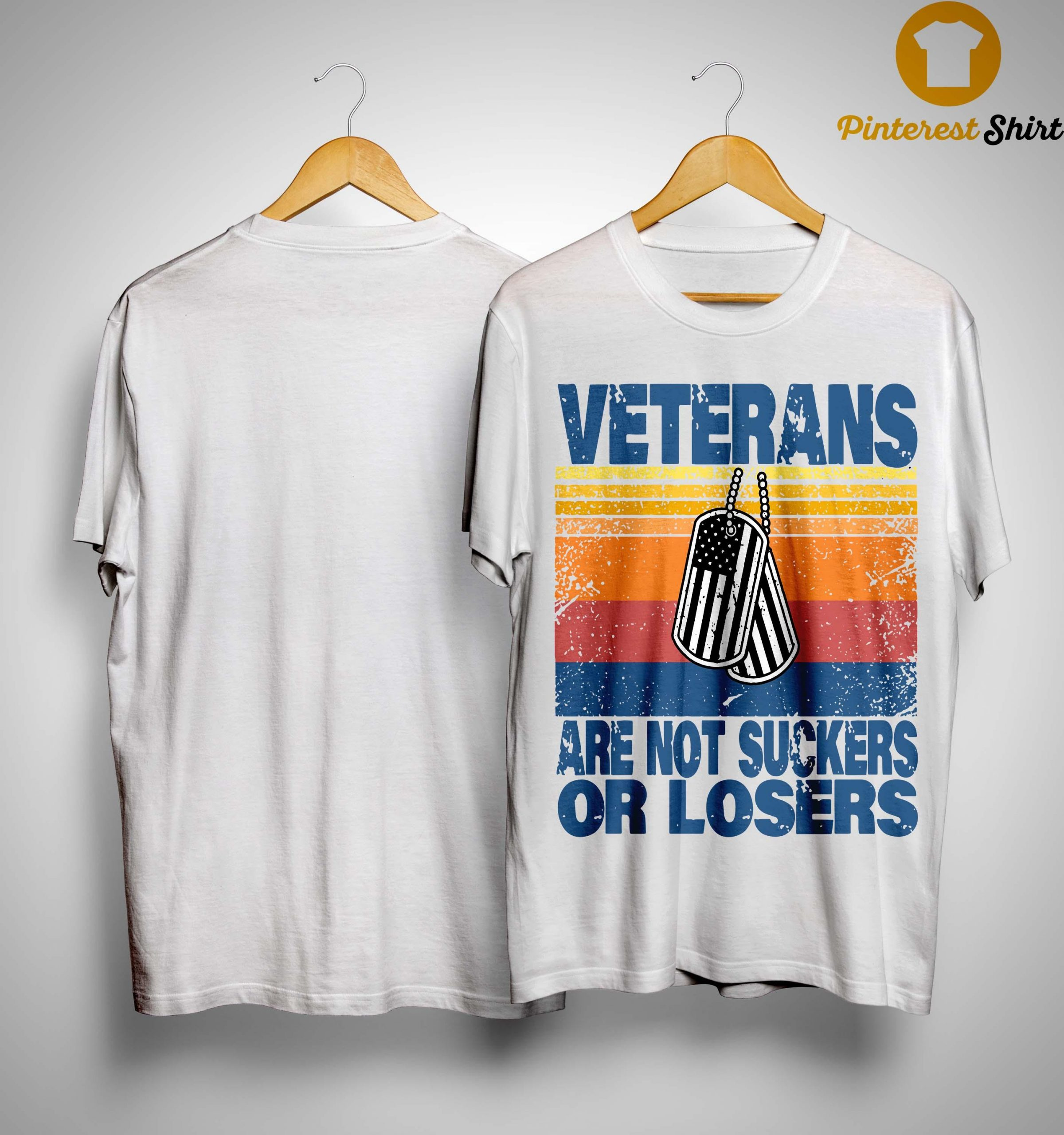 Vintage Veterans Are Not Suckers Or Losers Shirt