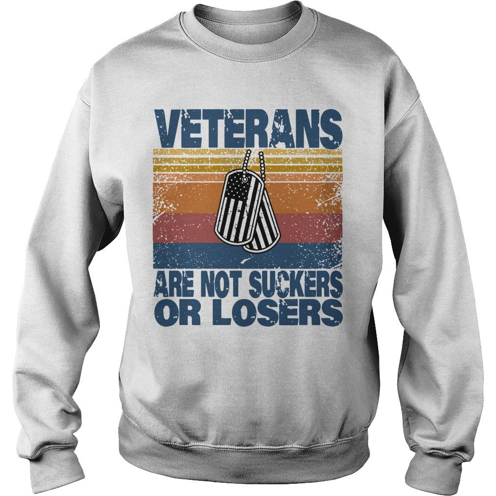 Vintage Veterans Are Not Suckers Or Losers Sweater
