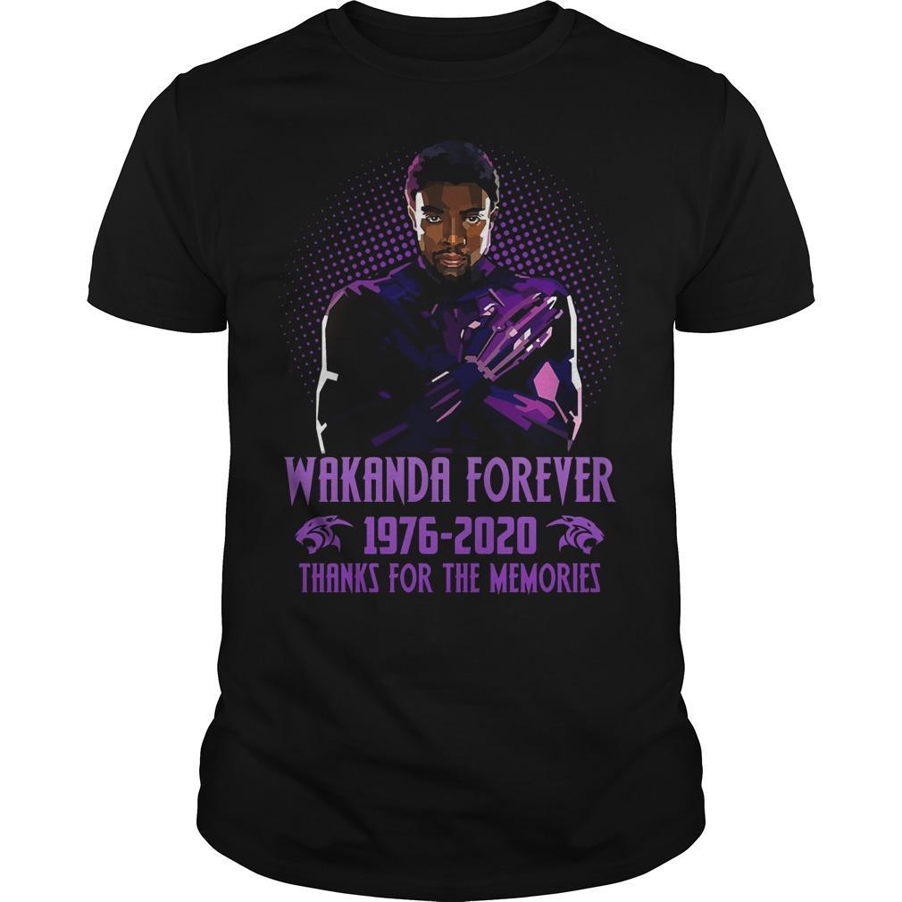 Wakanda Forever 1976 2020 Thanks For The Memories Shirt
