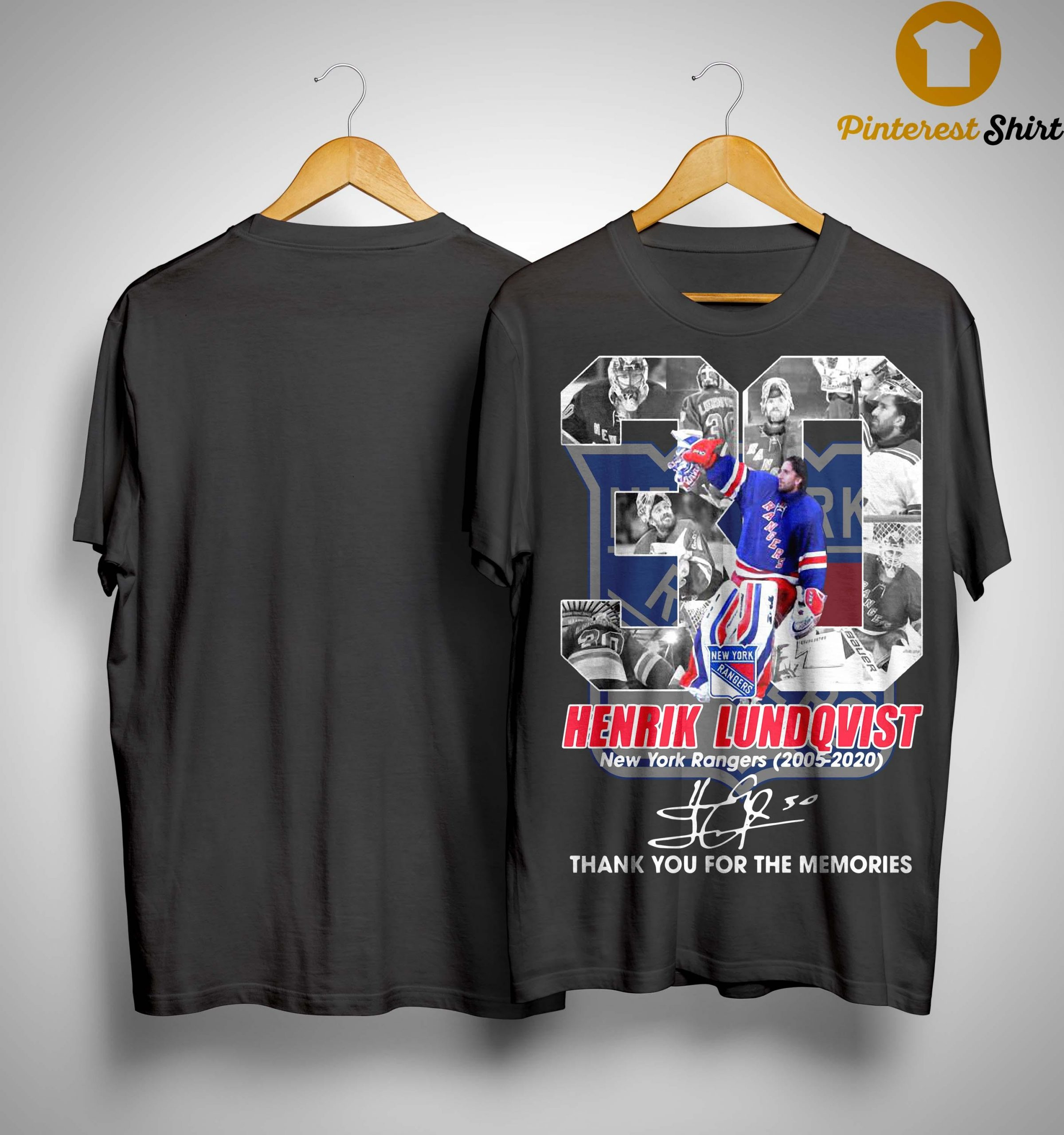 30 Henrik Lundqvist New York Rangers Thank You For The Memories Shirt