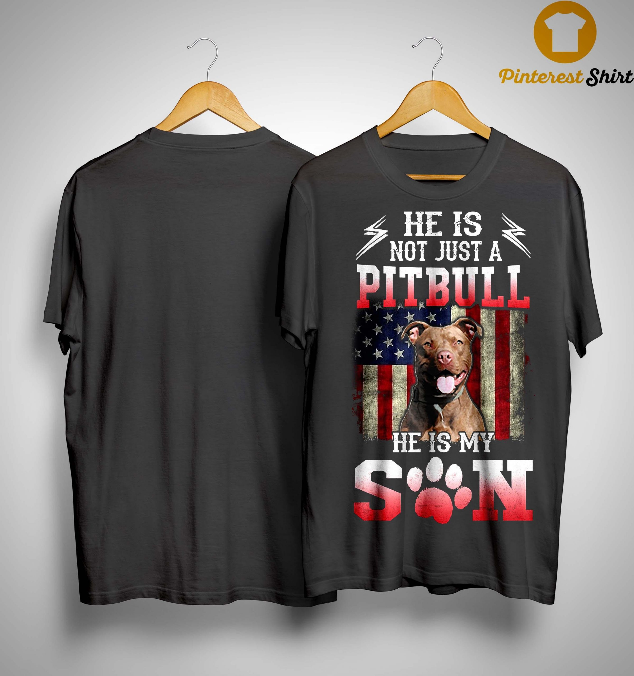 American Flag He Is Not Just A Pitbull He Is My Son Shirt