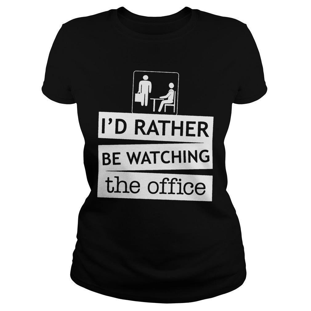 I'd Rather Be Watching The Office Longsleeve