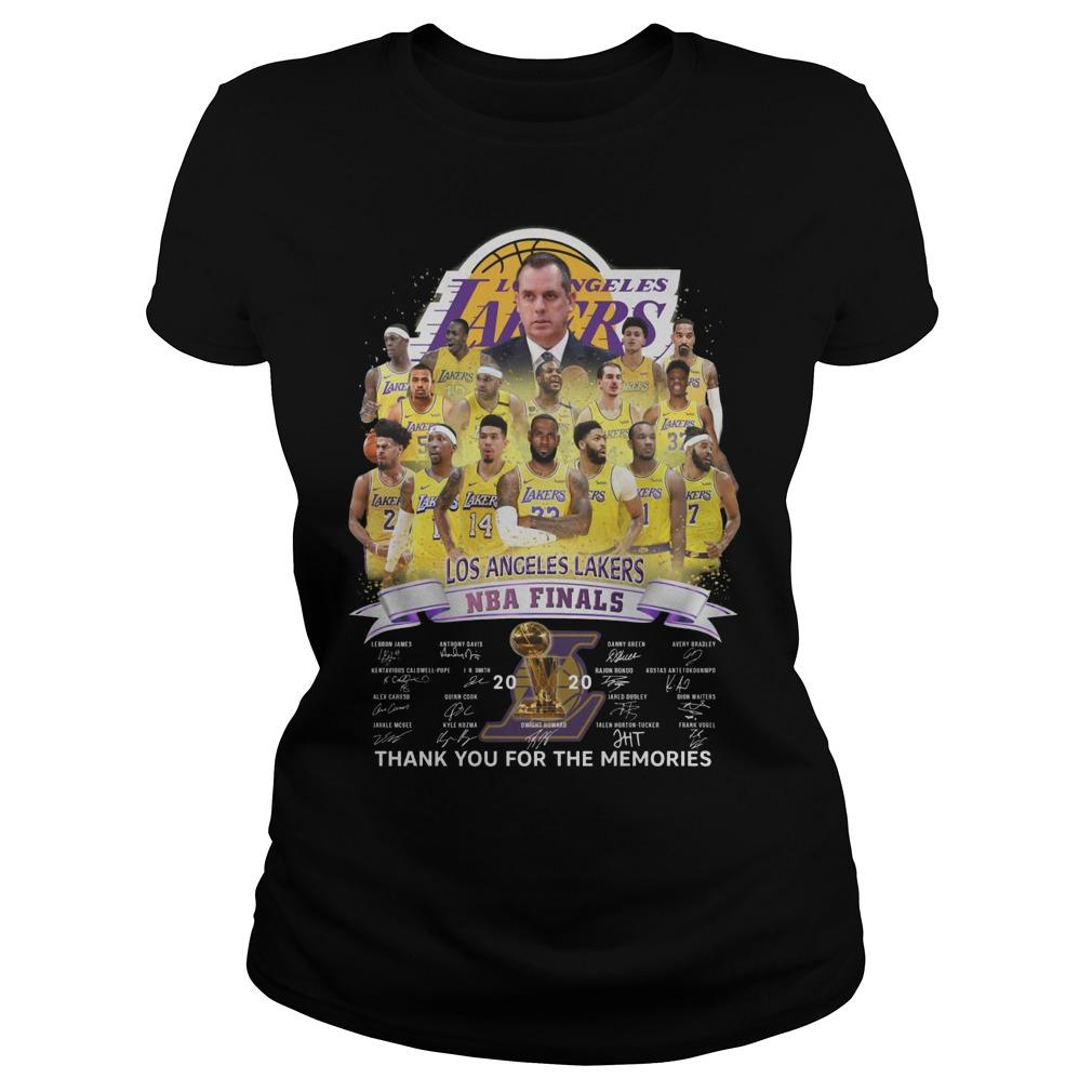 Los Angeles Lakers Nba Finals Thank You For The Memories Longsleeve