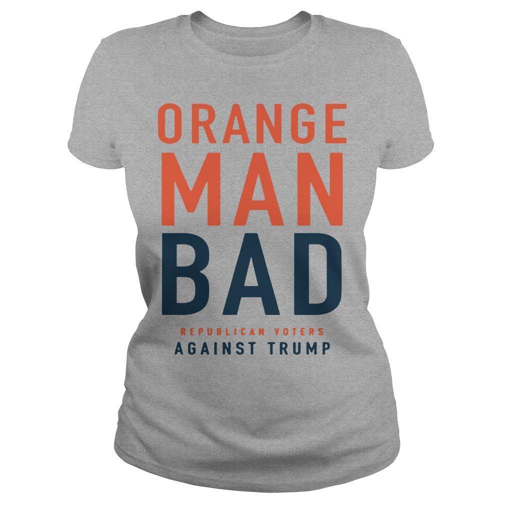 Orange Man Bad Republican Voters Against Trump Longsleeve