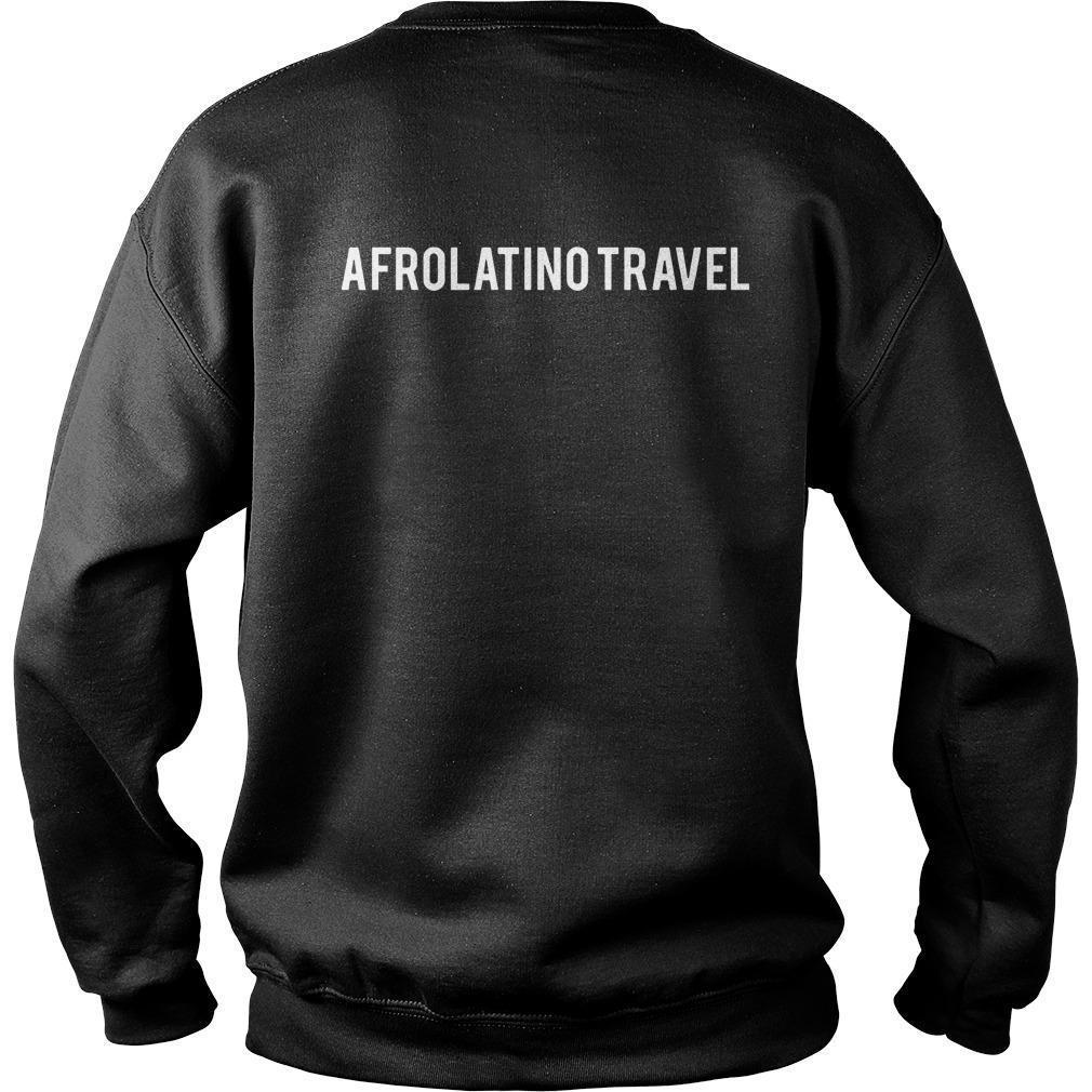 Orgullosamente Afrodescendiente Afrolatino Travel Sweater
