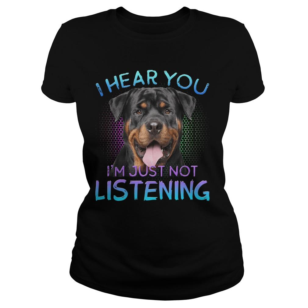 Rottweiler I Hear You I'm Just Not Listening Longsleeve