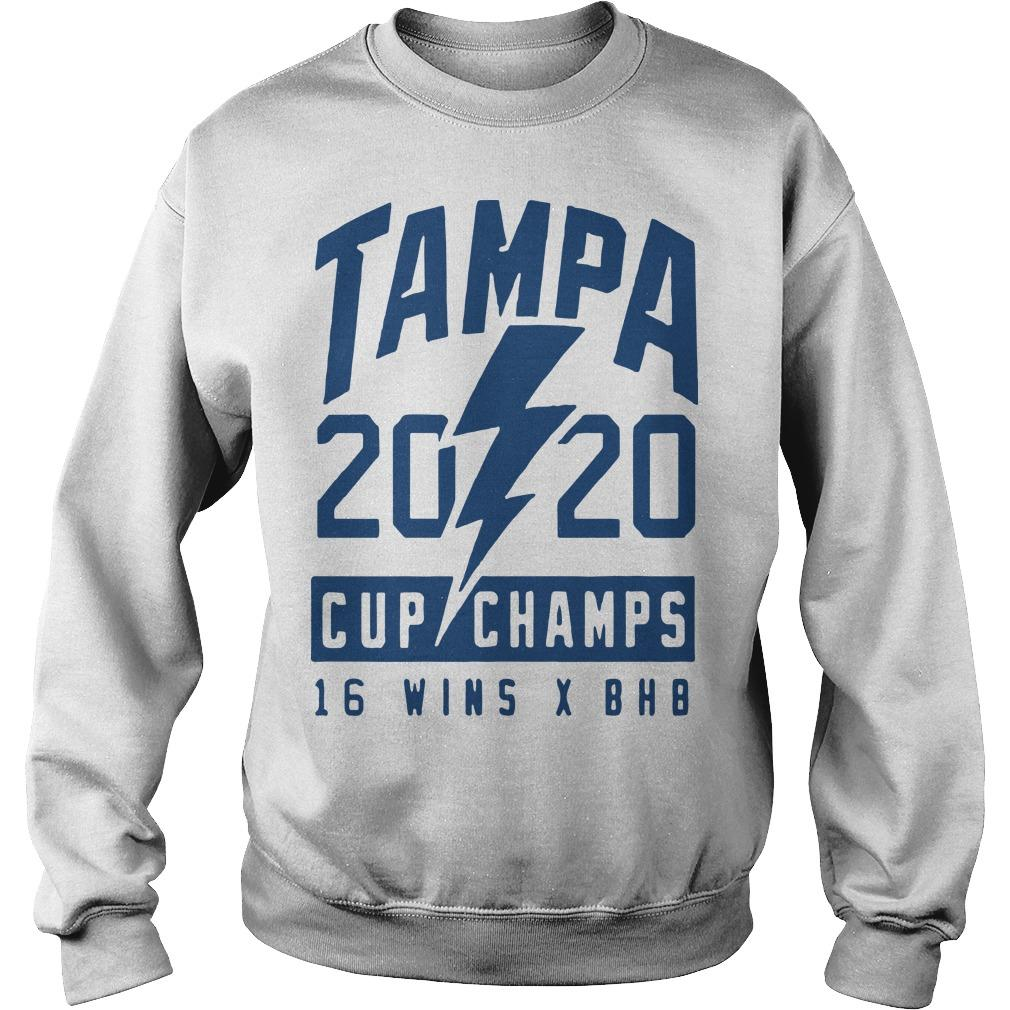 Tampa 2020 Cup Champs 16 Wins X Bhb Sweater