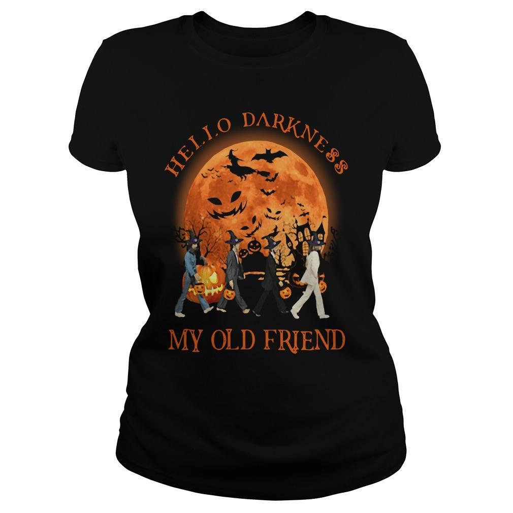 The Beatles Hello Darkness My Old Friends Halloween Longsleeve