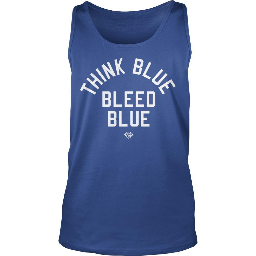 Think Blue Bleed Blue Tank Top