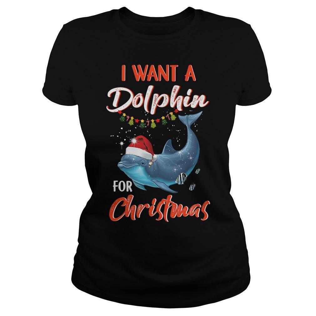 I Want A Dolphin For Christmas Longsleeve
