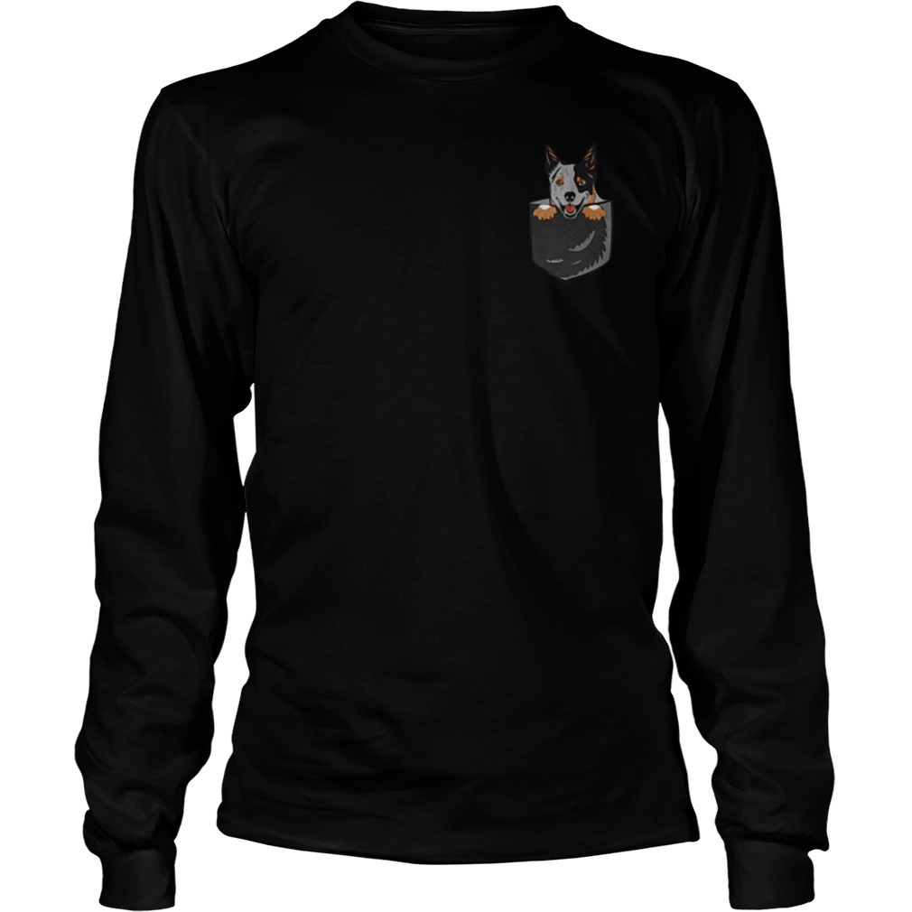 Australian Cattle In The Pocket Longsleeve Tee